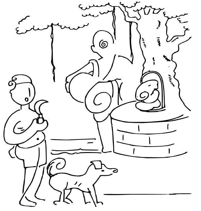 ಒಂದು ಆಲದ ಮರವೂ, ಒಬ್ಬ ಹುಡುಗನ ಪುಟ್ಟ ಕತ್ತಿಯೂ